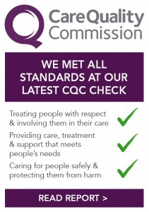 We met all standards at our latest CQC check