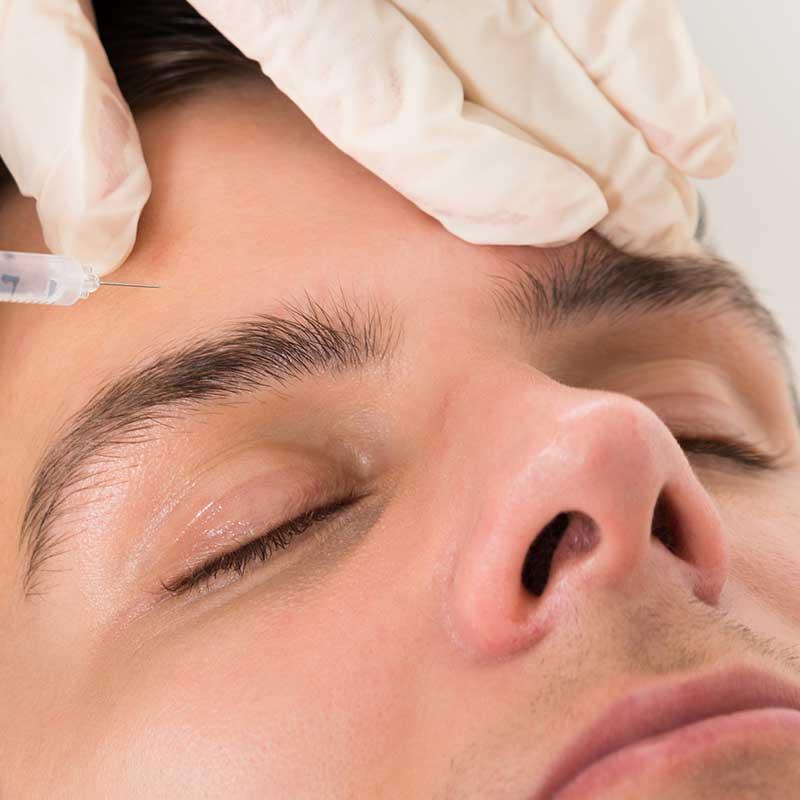 Photo of man having Botox injection